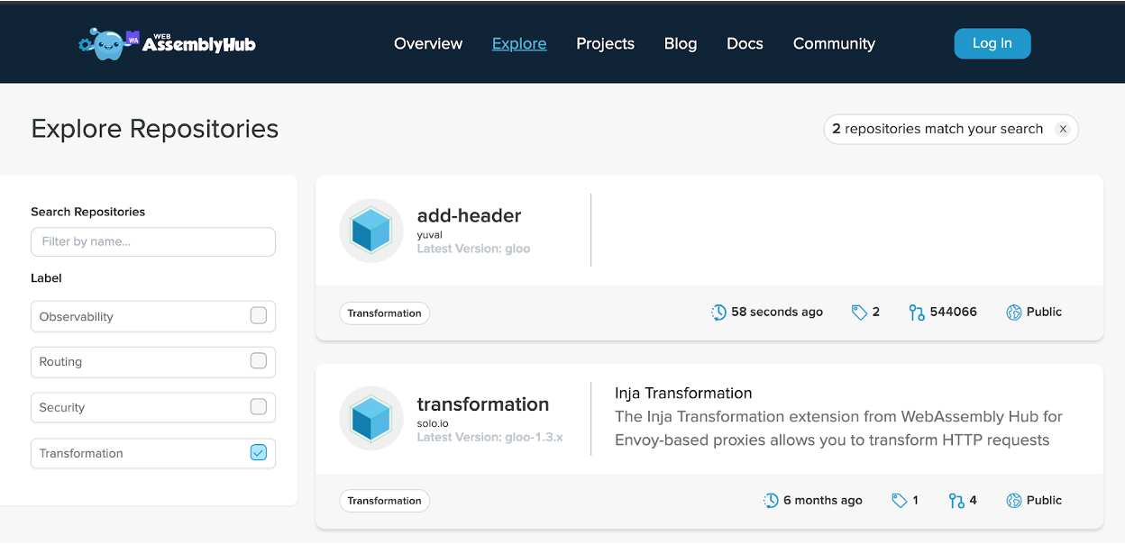 WebAssembly Hub
